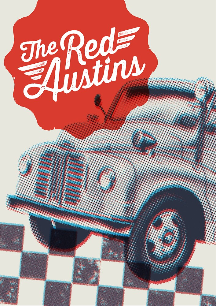 The Red Austins (poster) by Martin Anderson