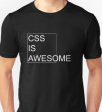 CSS Is Awesome [Dark Edition] Unisex T-Shirt