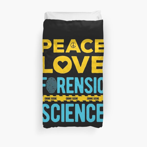 Forensic Science Duvet Cover
