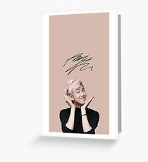 Pink Namjoon [[SIGNATURE]] Greeting Card