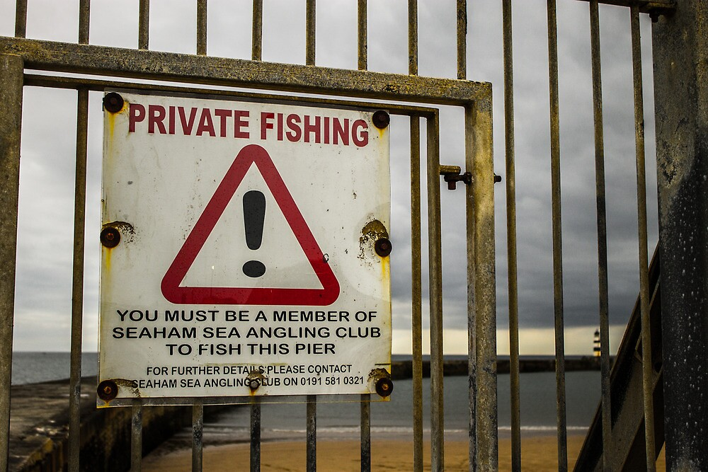 Private Fishing Sign by Jack Steel