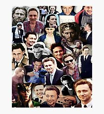 Tom Hiddleston collage Photographic Print