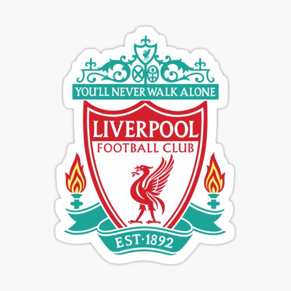 Liverpool Logo - Black Sticker