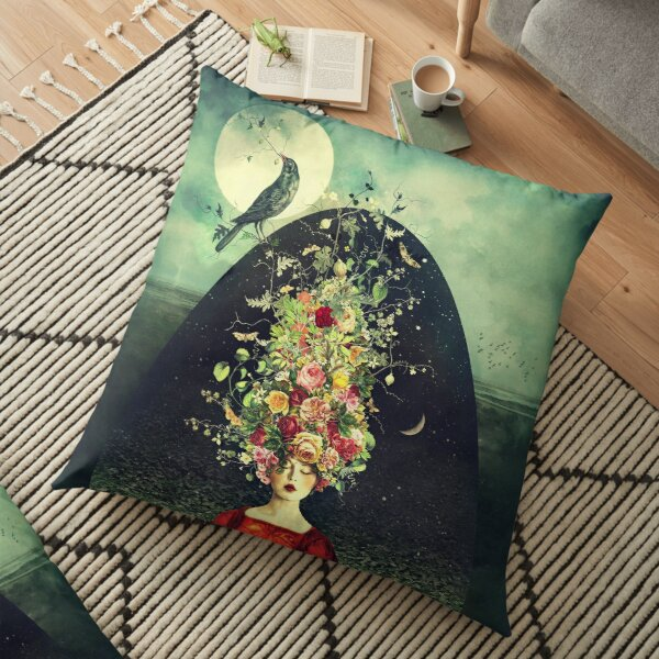 The Ballad Of Two Moons Floor Pillow