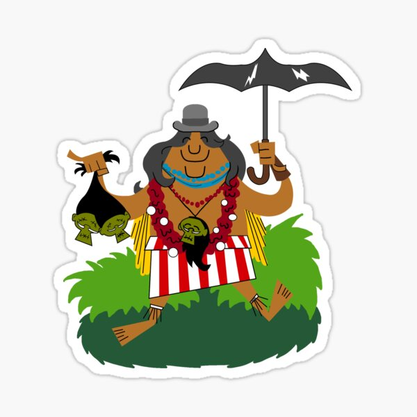 head salesman of the jungle Sticker