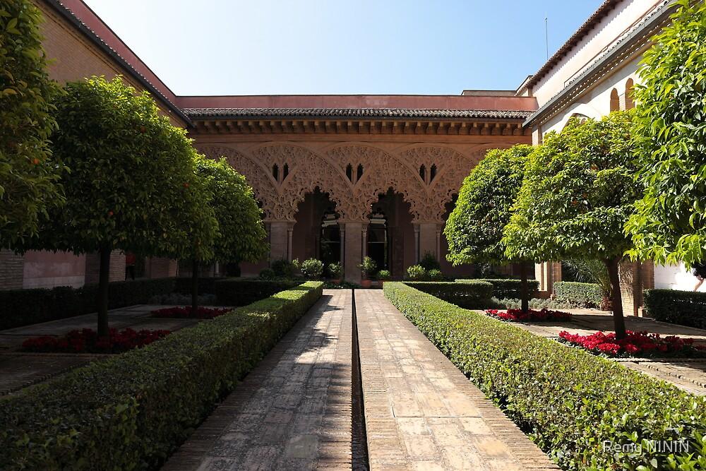 Inside court, Palacio de la Aljafería, Zaragoza, Spain by Remy NININ
