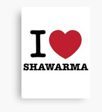 I HEART Shawarma Canvas Print