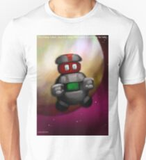 You have fallen, it is okay, the robot is here to help. Unisex T-Shirt