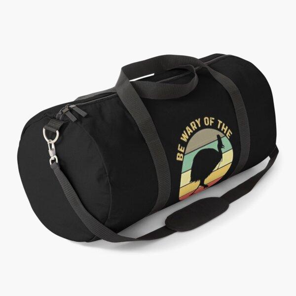 Be Wary Of The Cassowary:  Vintage Retro Sunset Australian Animal Bird Gifts For Cassowary Lovers Duffle Bag