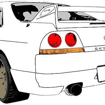 Nissan Skyline R33 GT-R (semi back) von officialgtrch