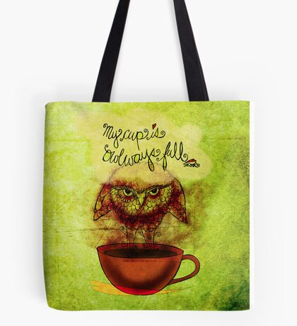 What my #Coffee says to me - January 30, 2014 Pillow Tote Bag