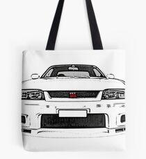 Nissan Skyline R33 GT-R (front) Tote Bag