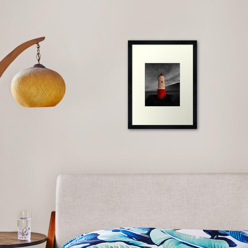 Berwick Upon Tweed Lighthouse Framed Art Print