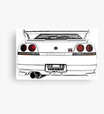 Nissan Skyline R33 GT-R (back) Metal Print
