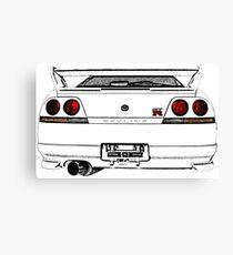 Nissan Skyline R33 GT-R (back) Leinwanddruck