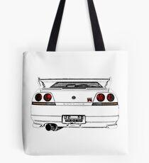 Nissan Skyline R33 GT-R (back) Tote Bag