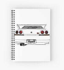 Nissan Skyline R33 GT-R (back) Spiral Notebook