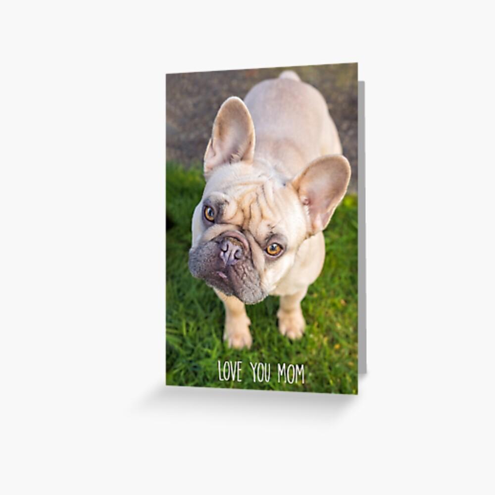 Love You Mom Greeting Card Greeting Card