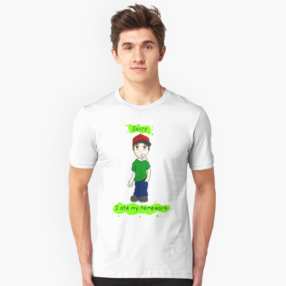 Sorry, I ate my homework Unisex T-Shirt Front
