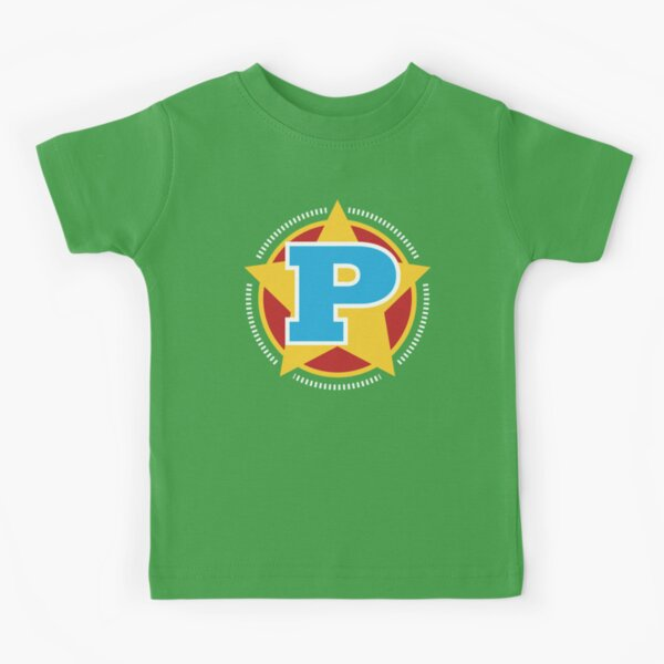 Superhero Letter P. Star and stripes Kids T-Shirt