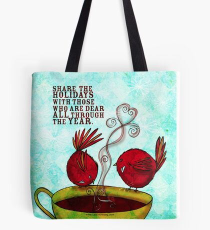 What my #Coffee says to me -  December 22, 2012 Pillow Tote Bag