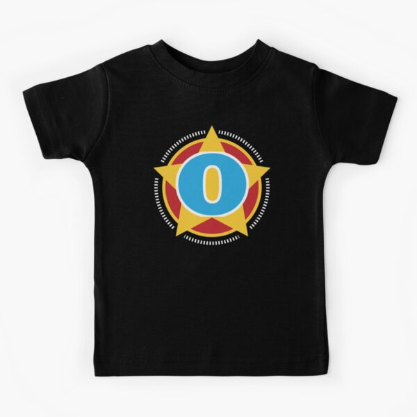 Copy of Superhero Letter O. Star and stripes Kids T-Shirt