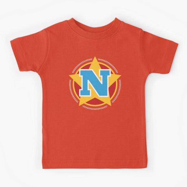 Superhero Letter N. Star and stripes Kids T-Shirt