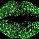 Stylish Green Glitter Lips by Nhan Ngo