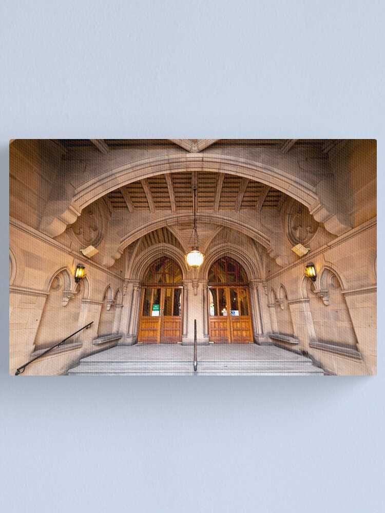 Alternate view of Manchester Town Hall's Entrance Canvas Print