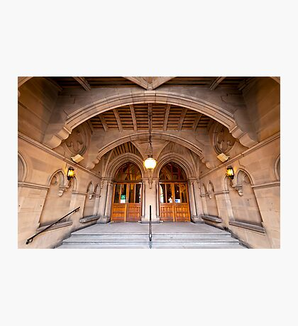 Manchester Town Hall's Entrance Photographic Print