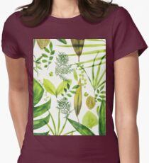 Foliage Womens Fitted T-Shirt
