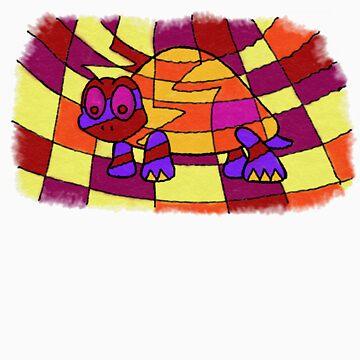 Hand-Drawn-Style PopArt Turtle by Haylomeni