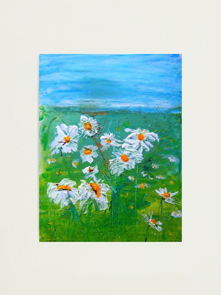 Alternate view of Meadow Daisies Photographic Print