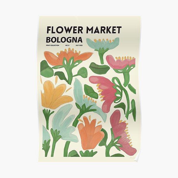 Flower Market Bologna Poster Poster