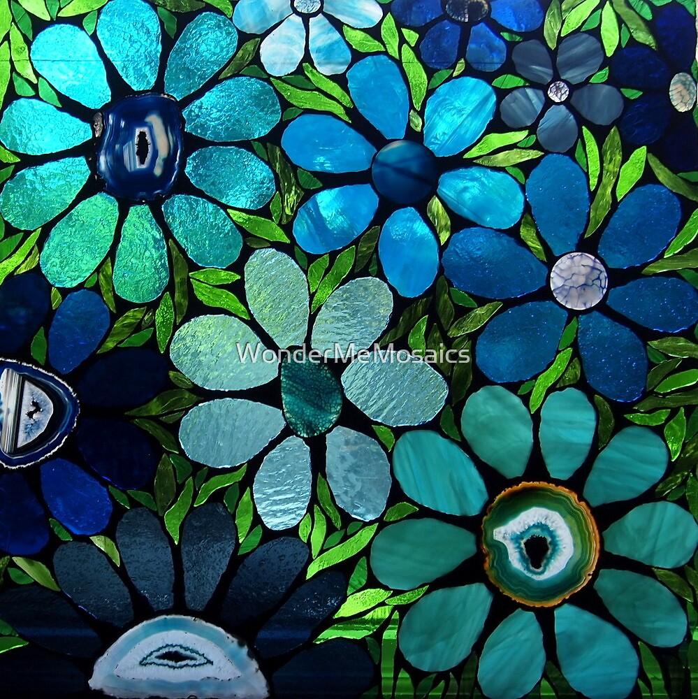 Garden of Blues & Greens by WonderMeMosaics