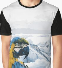 Parrot on Holiday Graphic T-Shirt