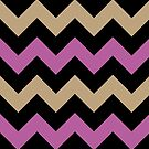Chevron Orchid Champagne Beige Zigzag Pattern by Beverly Claire Kaiya