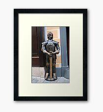 Knight armour. Framed Print