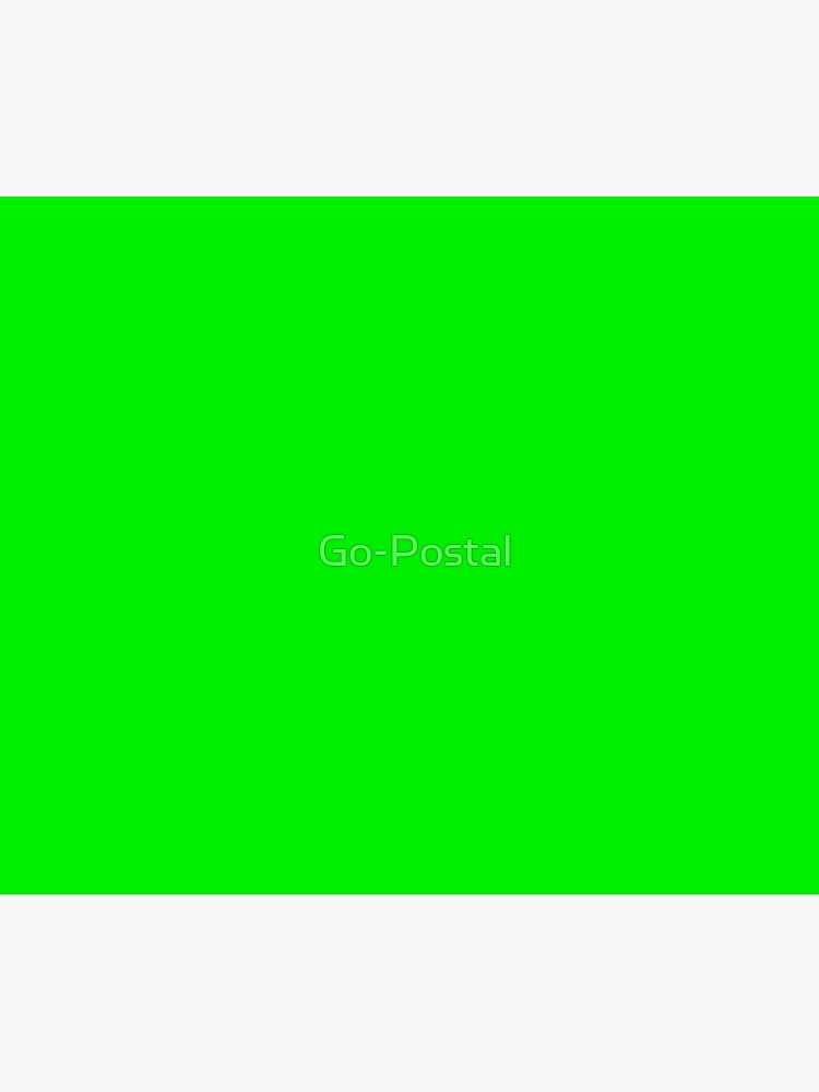 Perfect for Chroma Key / Green Screen  by Go-Postal
