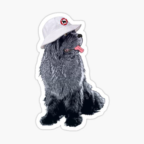 Newfie with Bucket Hat Sticker