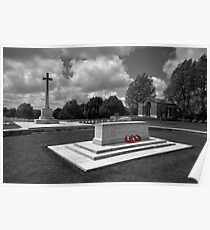 Hooge Cemetery in mono  Poster