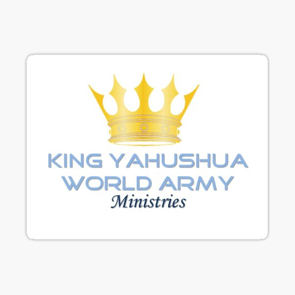 King YAHUSHUA World Army Ministries Logo Sticker