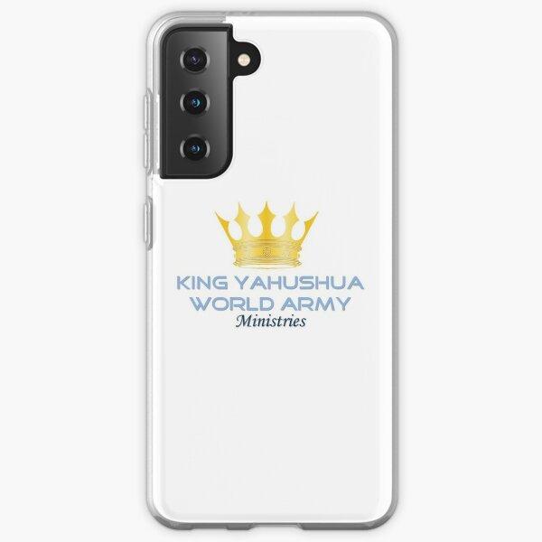 King YAHUSHUA World Army Ministries Logo Samsung Galaxy Flexible Hülle
