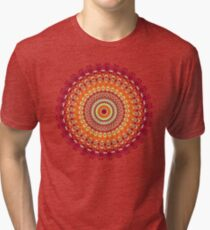 Orange Spice Mandala Tri-blend T-Shirt