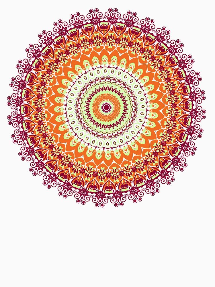 Orange Spice Mandala by InspiraImage