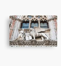 Lion of St Mark. Canvas Print