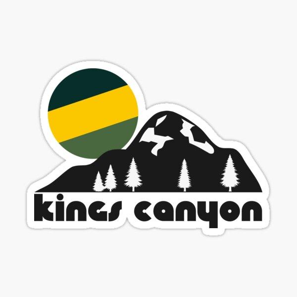 Retro Kings Canyon ))(( Tourist Souvenir National Park Design Sticker