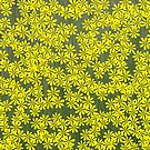 Yellow flowers by KatDoodling
