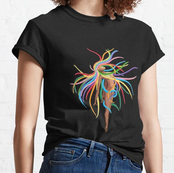 Colored Strands Of Hair Classic T-Shirt