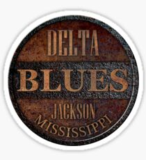 Pegatina Rusty delta blues